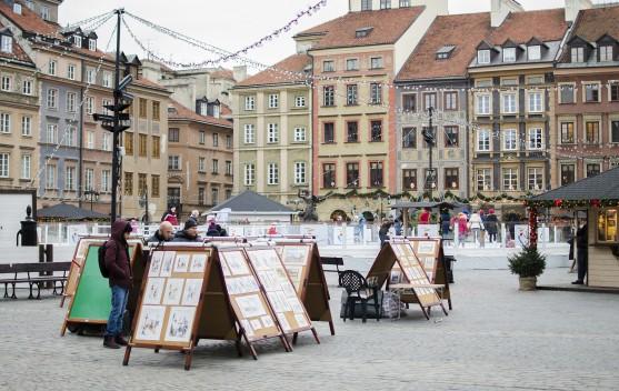 rynek stare miasto zima